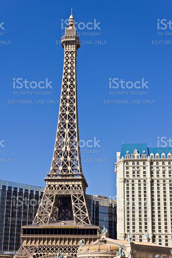 Exterior of the Paris Las Vegas IV stock photo