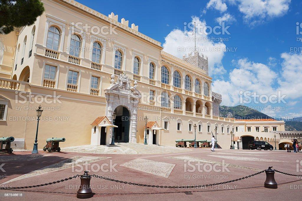 Exterior of the Prince's Palace in Monaco, Monaco. stock photo