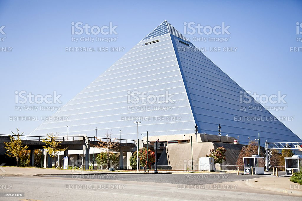 Exterior of the Pyramid Arena, Memphis, Tennessee, USA royalty-free stock photo