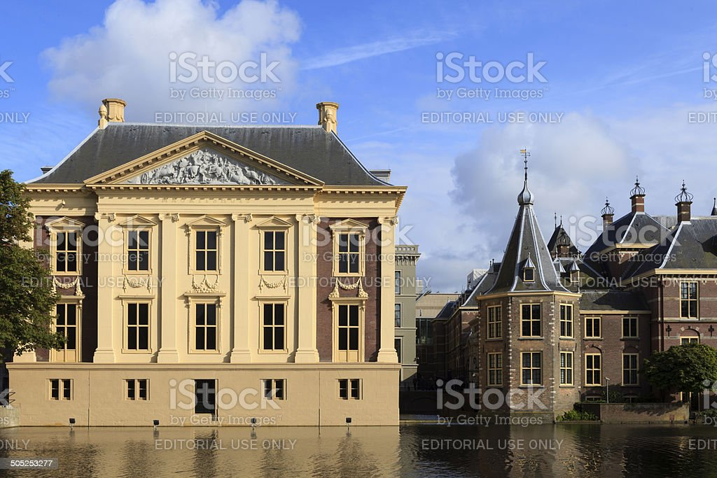 exterior of the Royal Cabinet of Paintings Mauritshuis stock photo