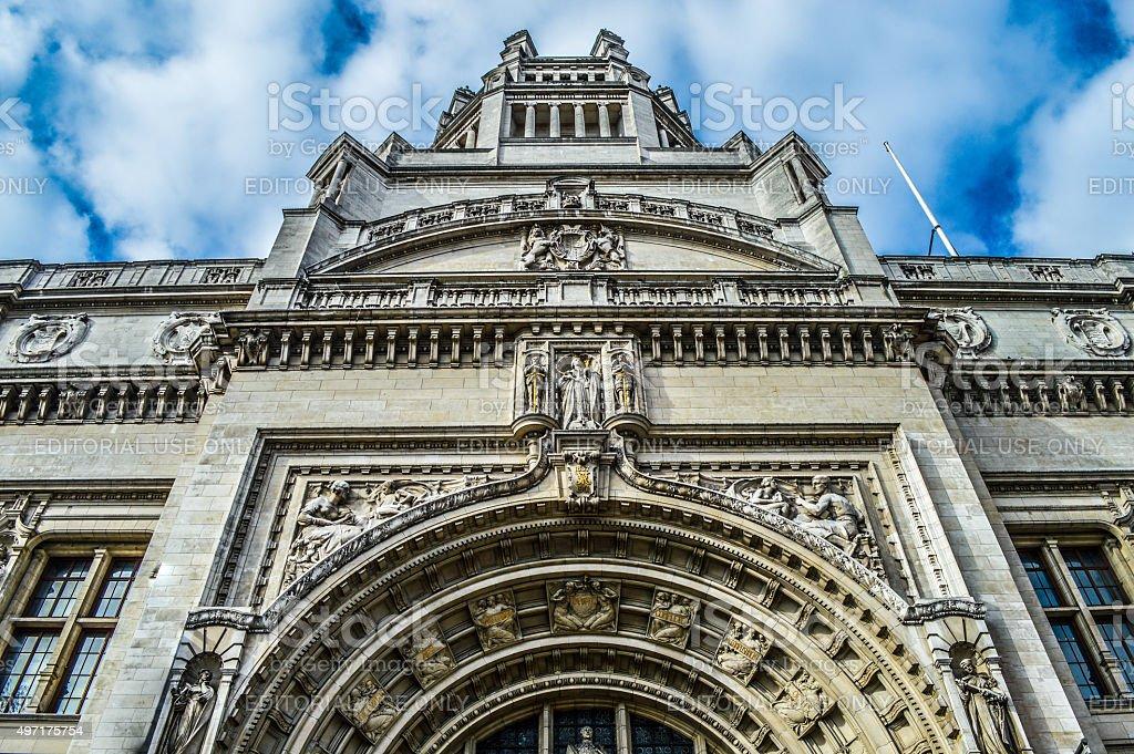 Exterior of Victoria and Albert Museum - London, UK stock photo