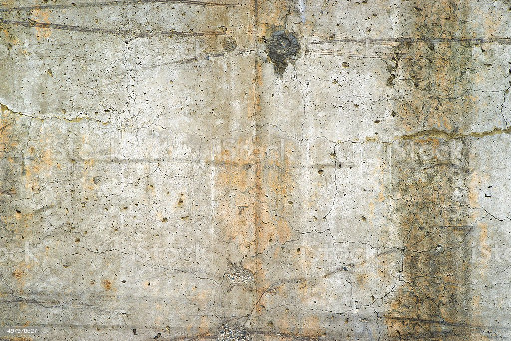 Exterior old poured concrete wall stock photo