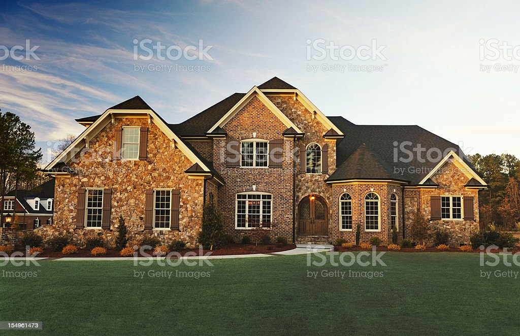 Exterior Residential House stock photo