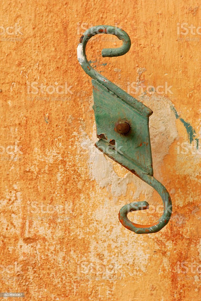 Exterior S shutter hold back royalty-free stock photo