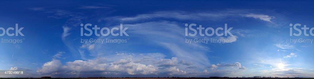Exterior Seamless Sky Panorama stock photo