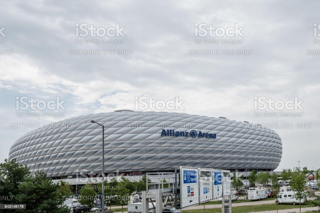 Exterior shot of Allianz Arena Stadium stock photo