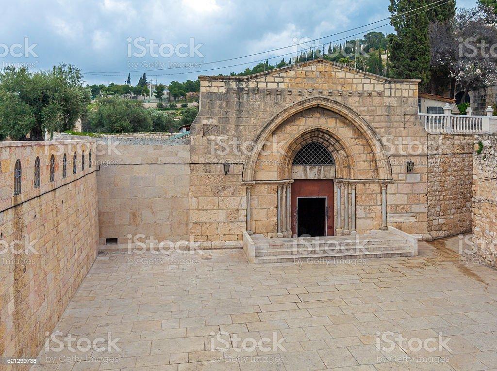 Exterior Tomb of the Virgin Mary, Kidron Valley, Jerusalem stock photo