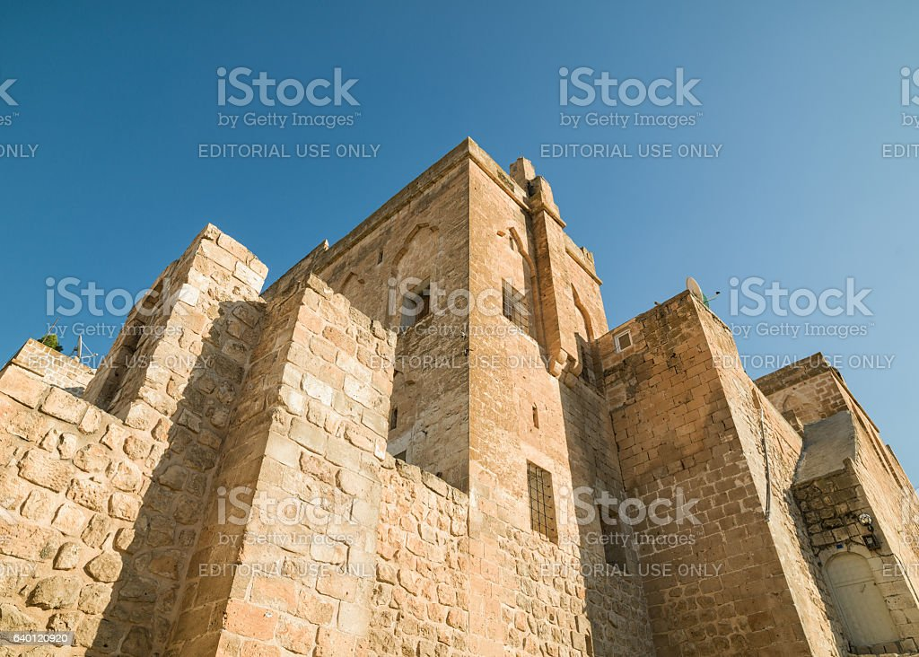 Exterior View Of An Antique House In Mardin stock photo