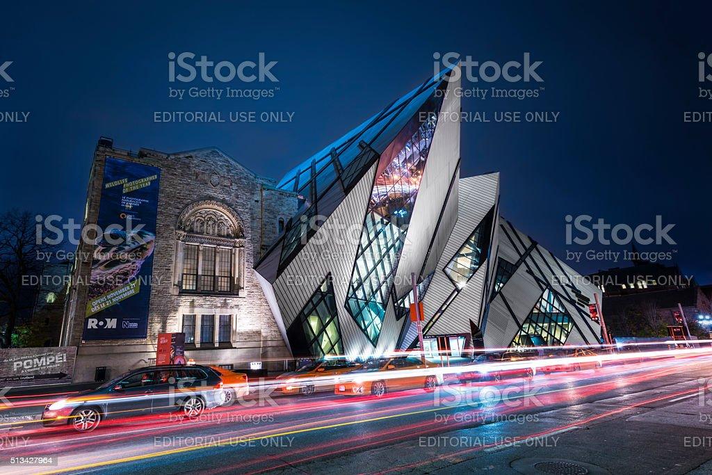 Exterior View of Royal Ontario Museum, Toronto Canada. stock photo