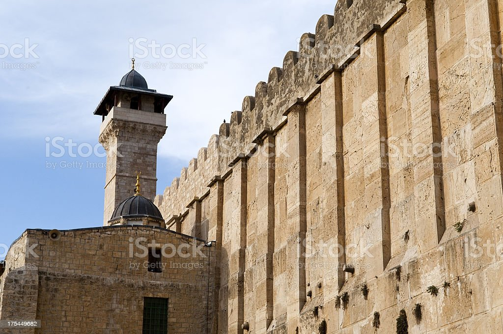 Ibrahimi Mosque (Cave of the Patriarchs) in Hebron, West Bank stock photo
