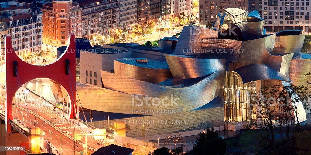 Exterior view of the Guggenheim Museum. Bilbao, Spain stock photo