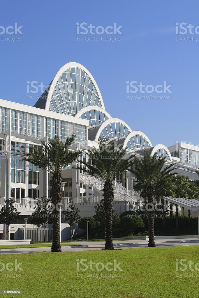 Exterior view of the Orange County Convention Center stock photo
