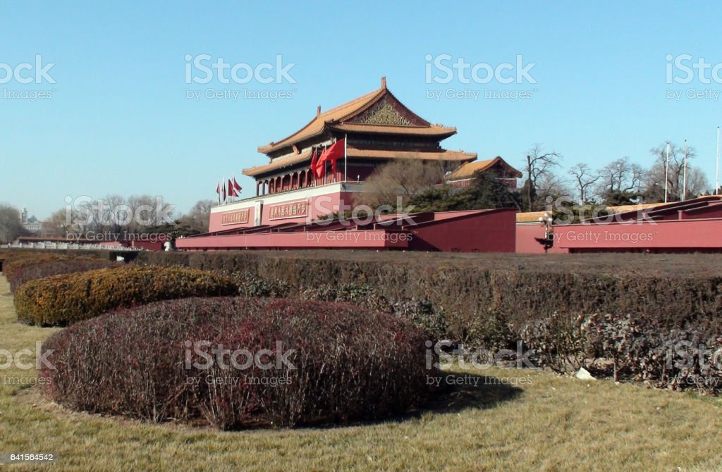 Exterior View Of Tiananmen Gate Of Heavenly Peace In Beijing.China.Asia stock photo