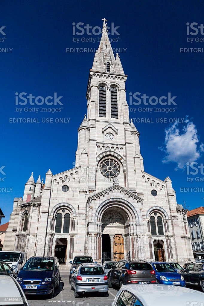 Exterior views of the city of Gap stock photo