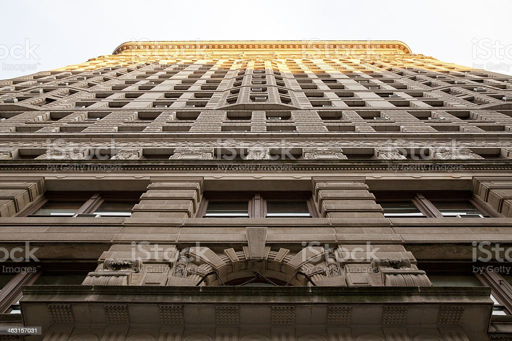 Exterior wall of Flatiron building in New York City royalty-free stock photo