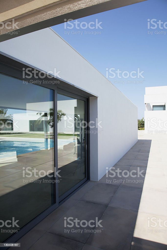 Exterior window of modern house royalty-free stock photo