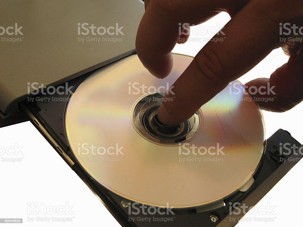 CD en extérieur photo libre de droits