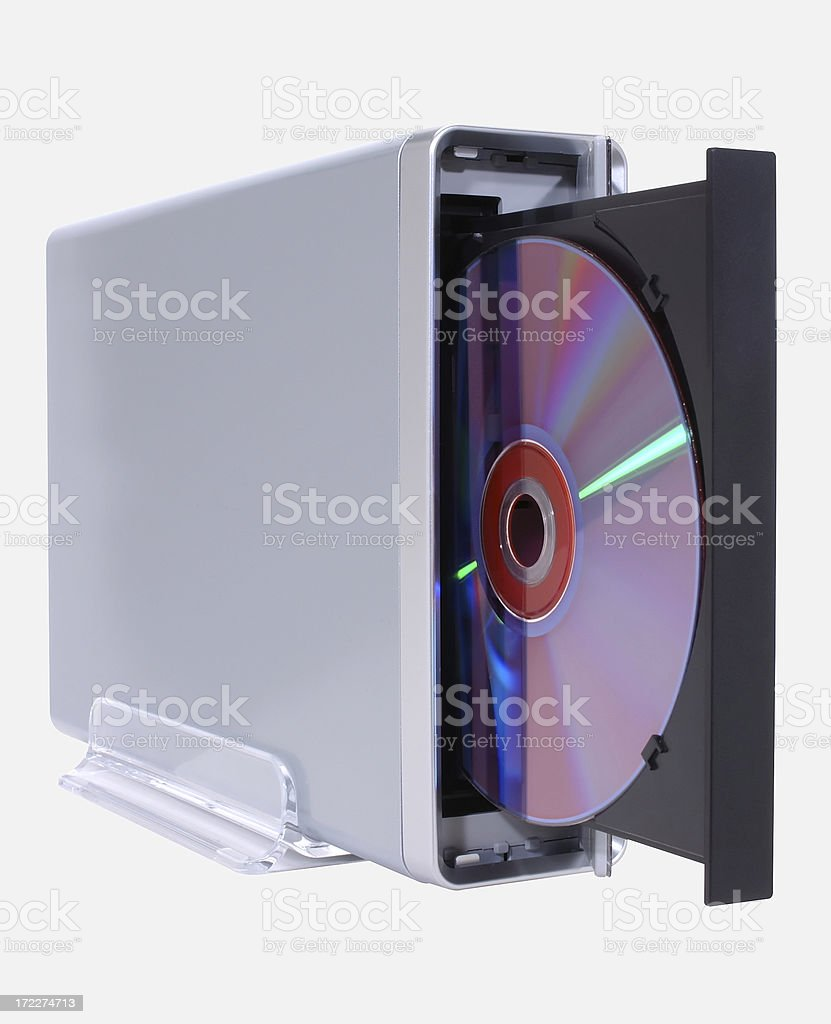 External DVD Drive with Paths stock photo