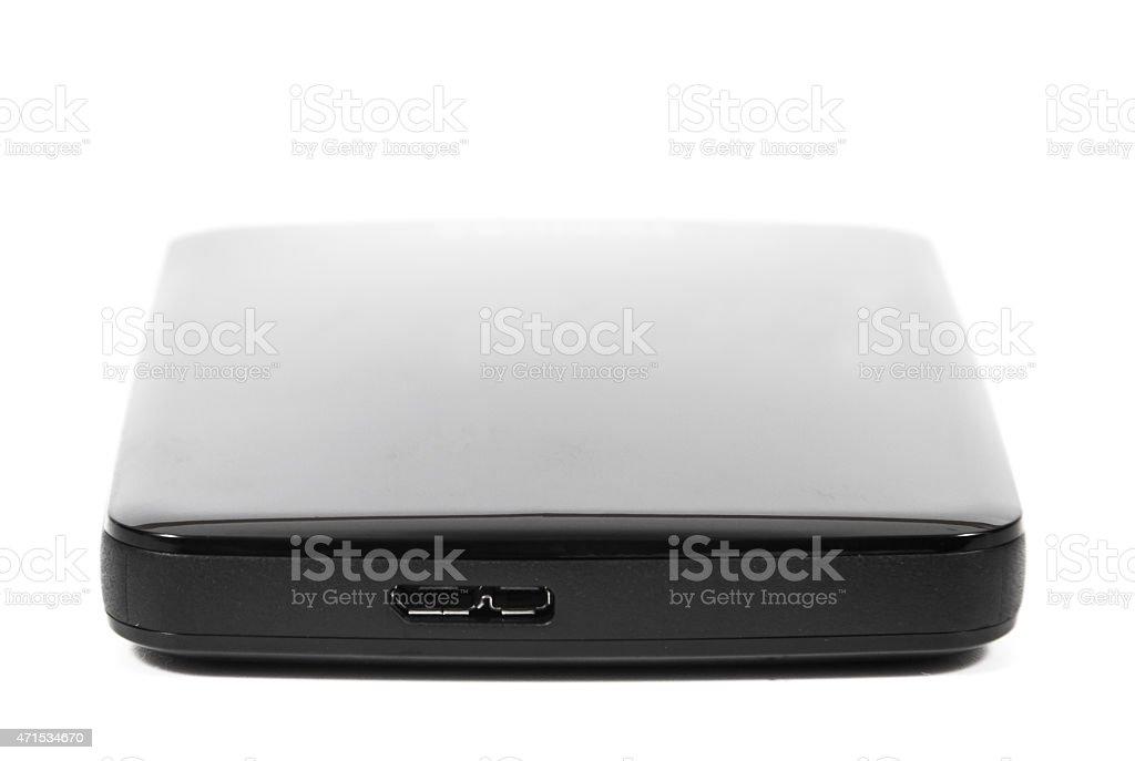 external hard disk drive stock photo