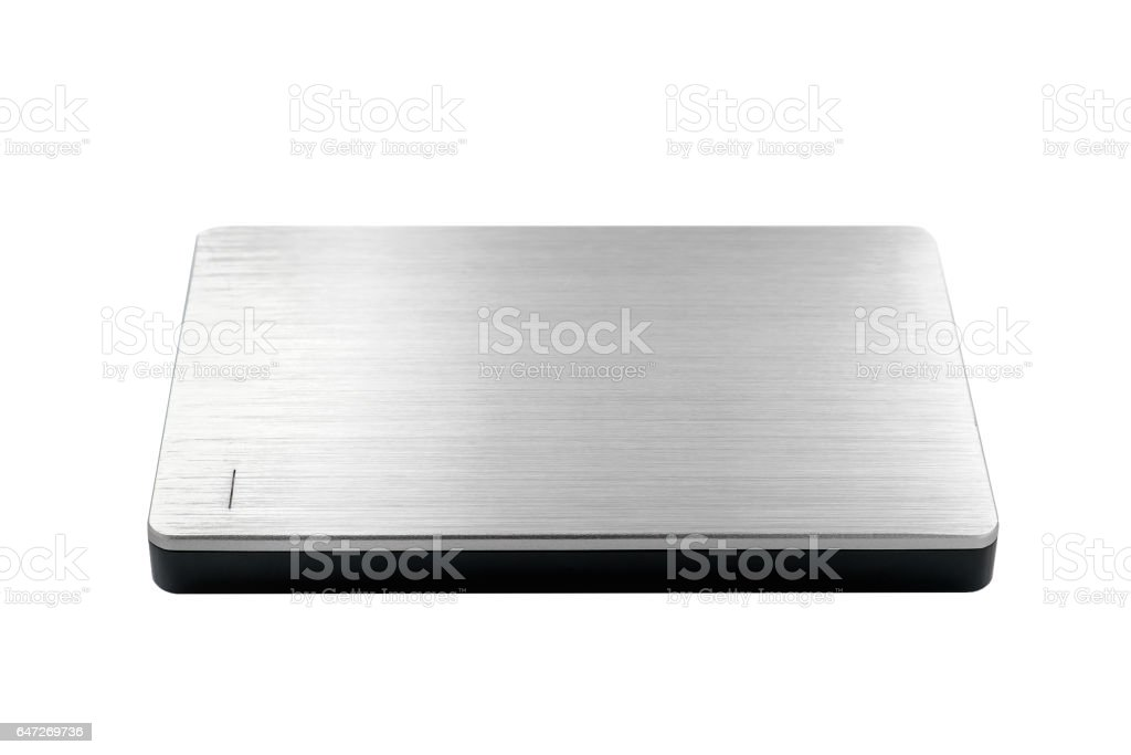 External hard disk isolated stock photo