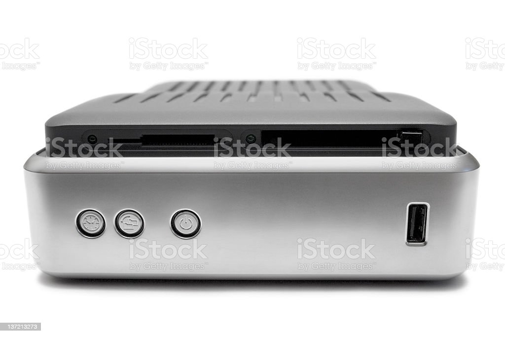 External Hard Disk (Front View) royalty-free stock photo
