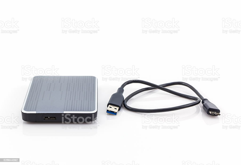 External hard drive for backup. stock photo