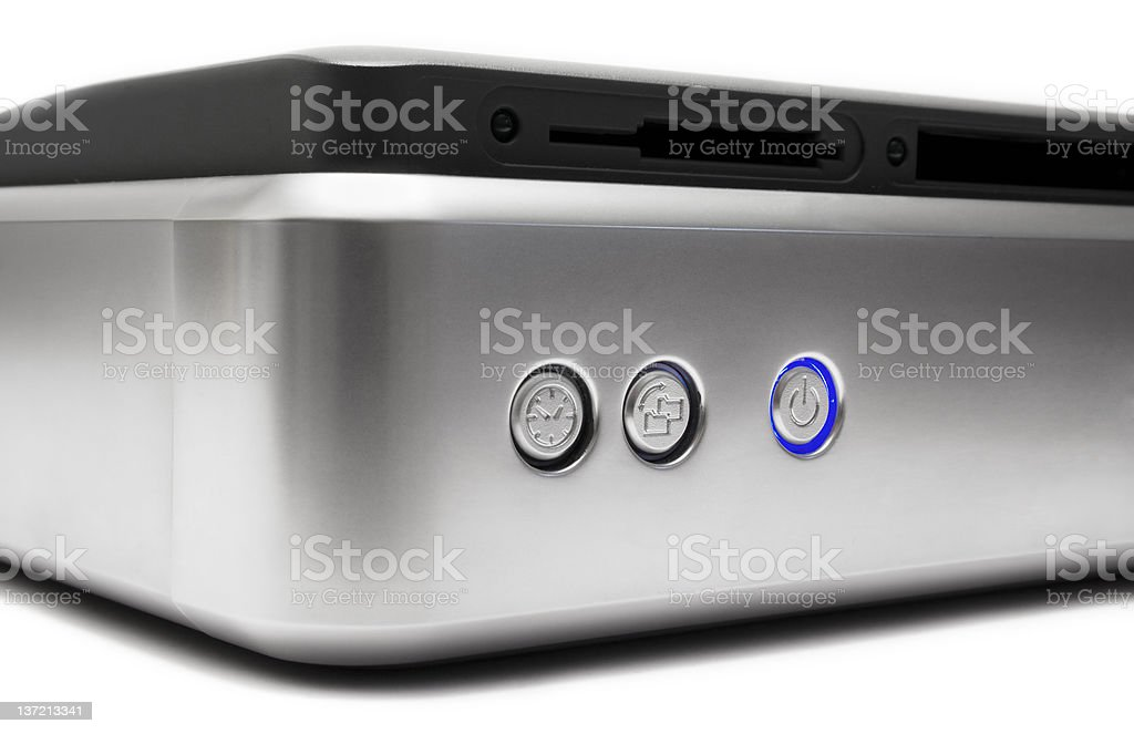 External Hard Drive ( Front Side View) stock photo
