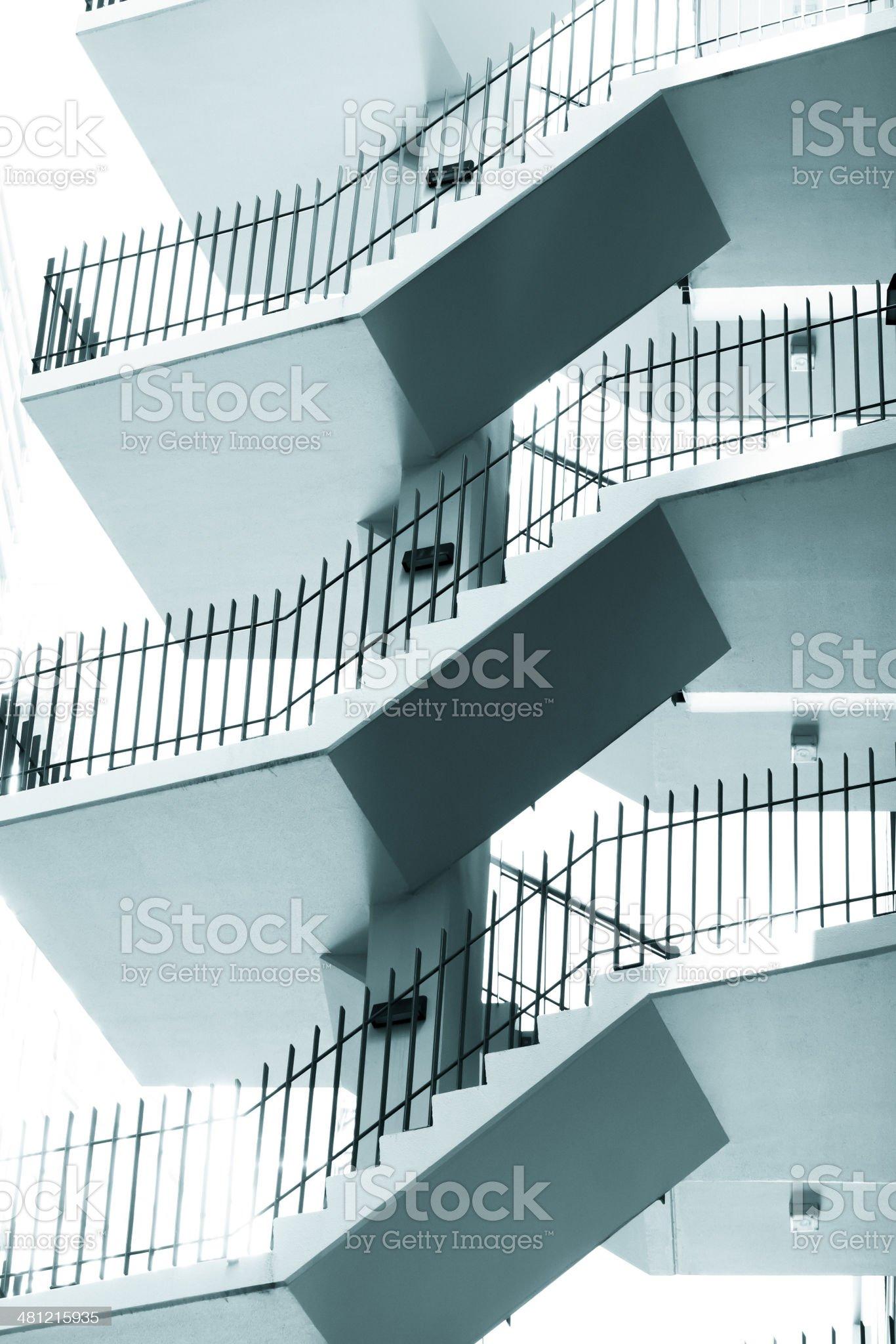 External staircase on modern apartmemn block royalty-free stock photo