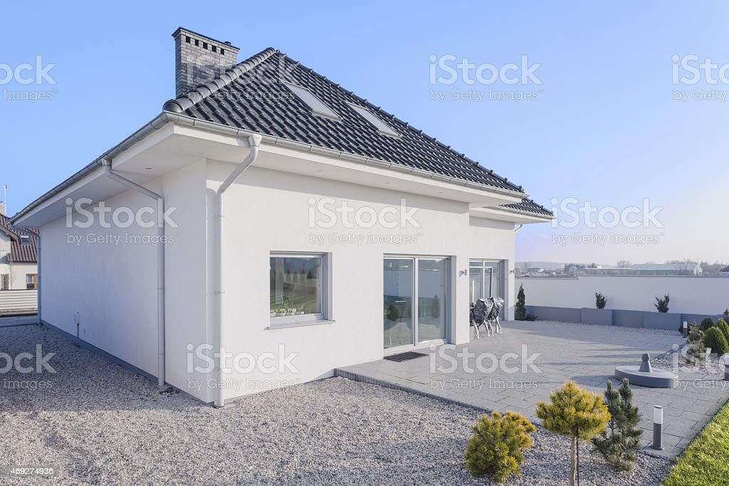 External view of single-family home stock photo