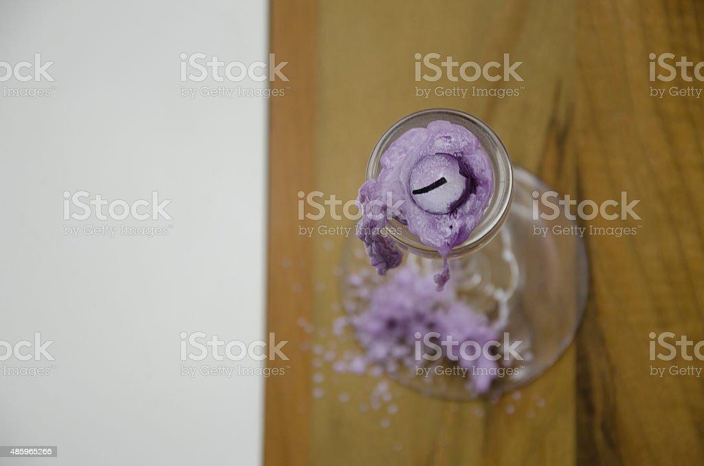 extinguished candle close-up stock photo