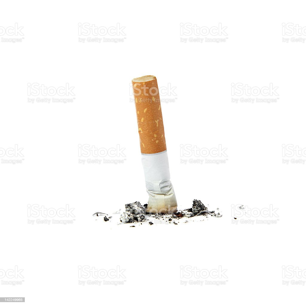 Extinguished cigarette. royalty-free stock photo