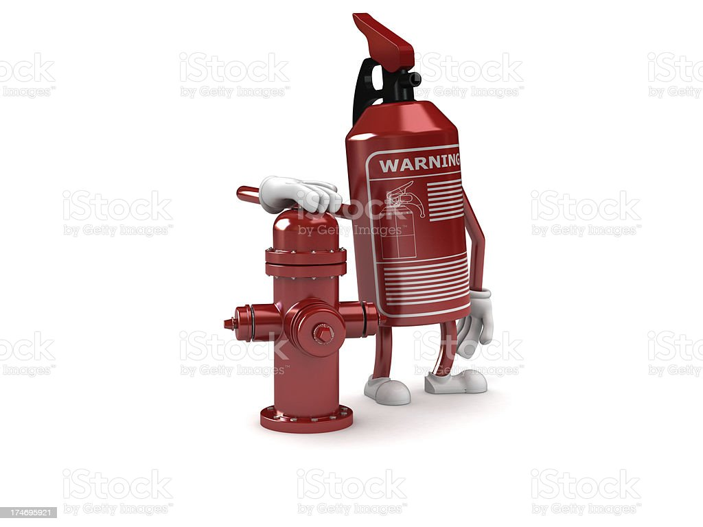 Extinguisher concept royalty-free stock photo