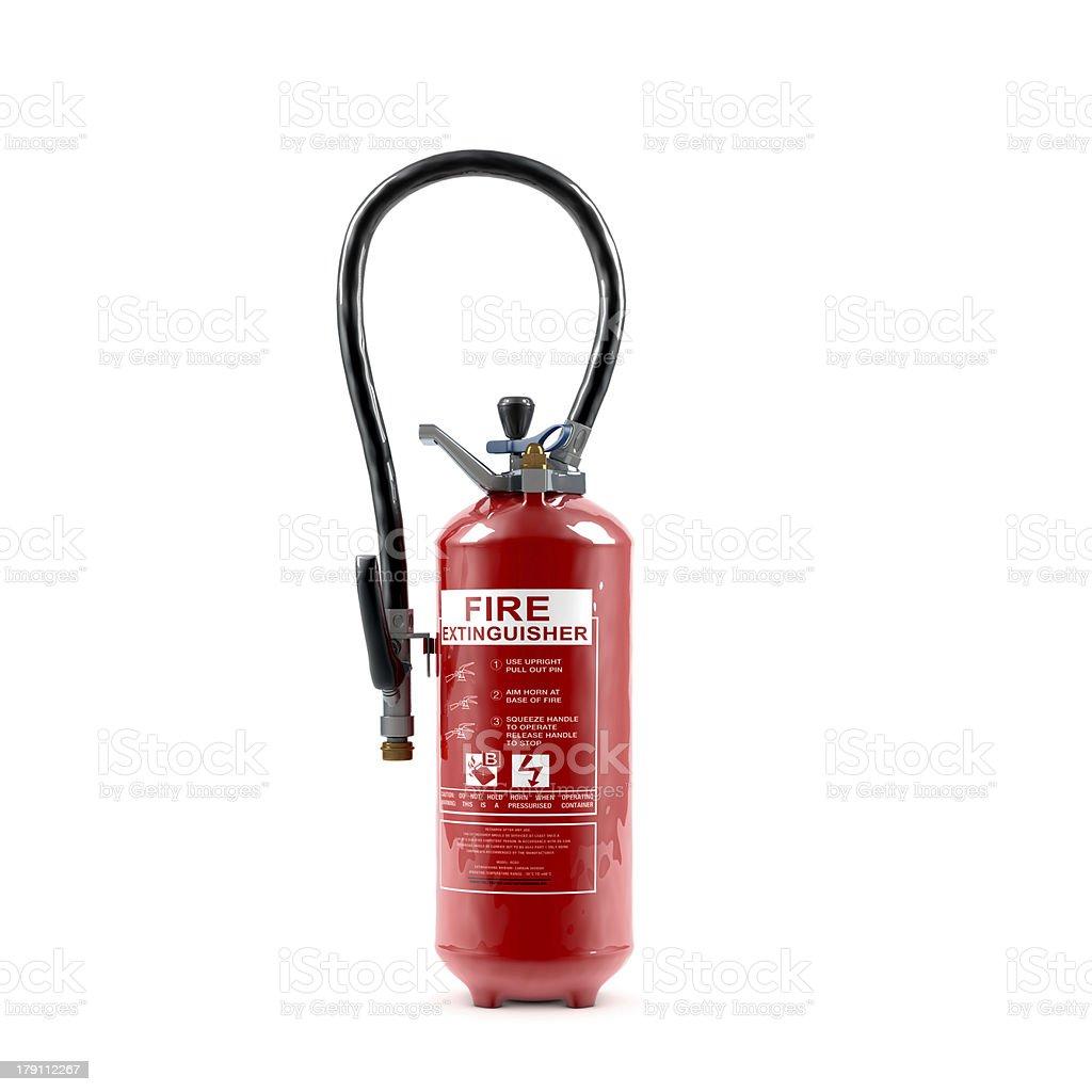 Extinguisher on white stock photo