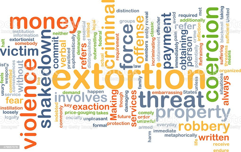 Extortion background concept stock photo