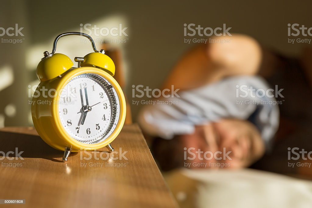 Extra Five Minutes Of Sleep stock photo