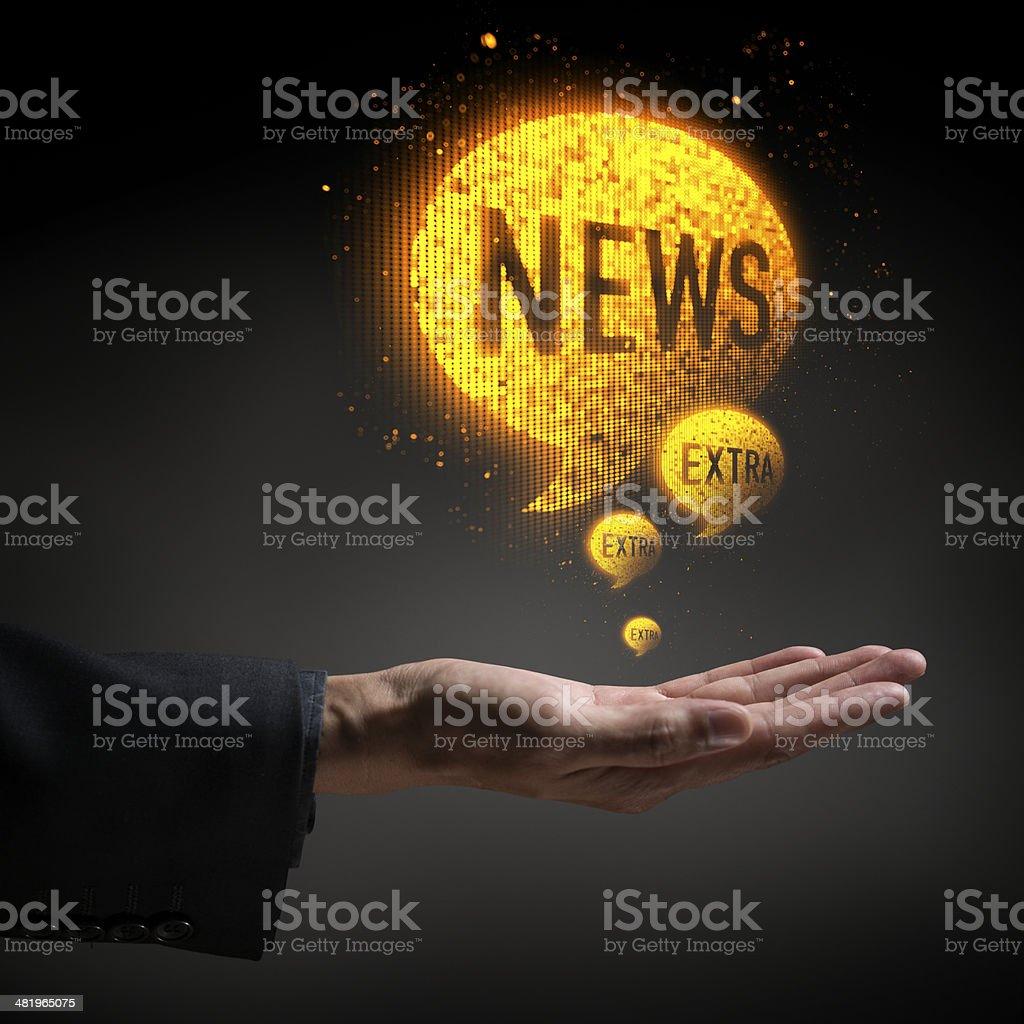 Extra News royalty-free stock photo