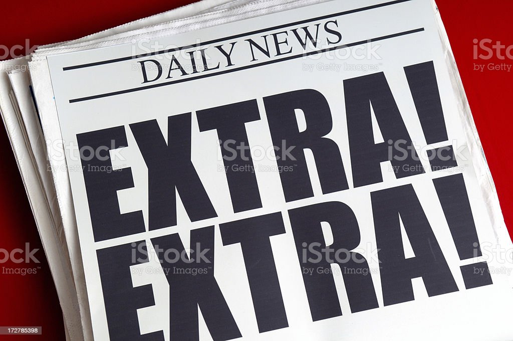 Extra! stock photo