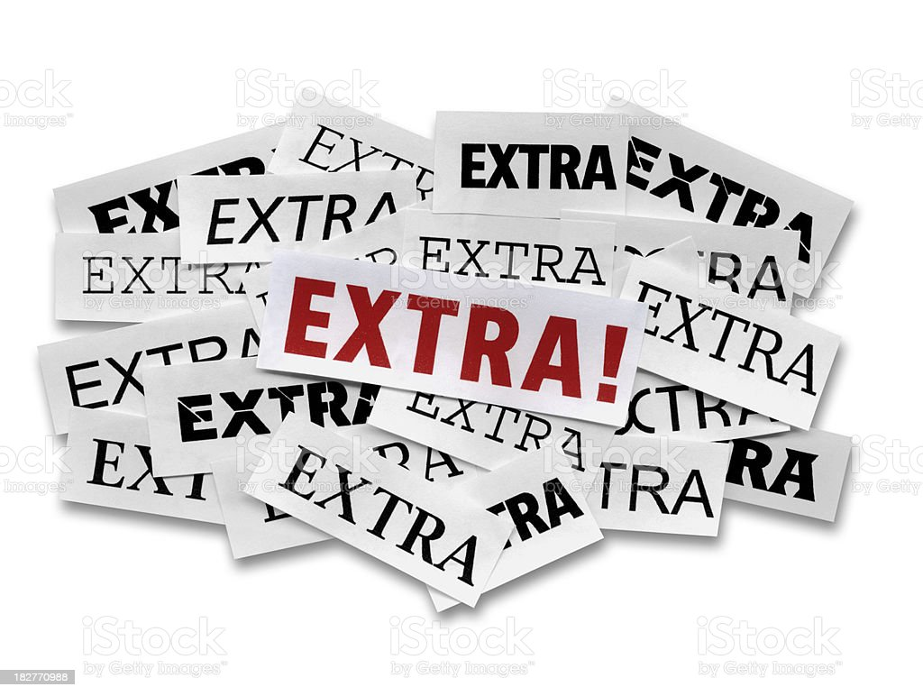 Extra! royalty-free stock photo