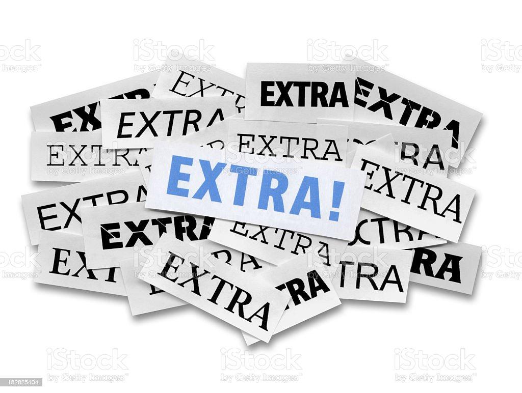Extra! royalty-free stock photo