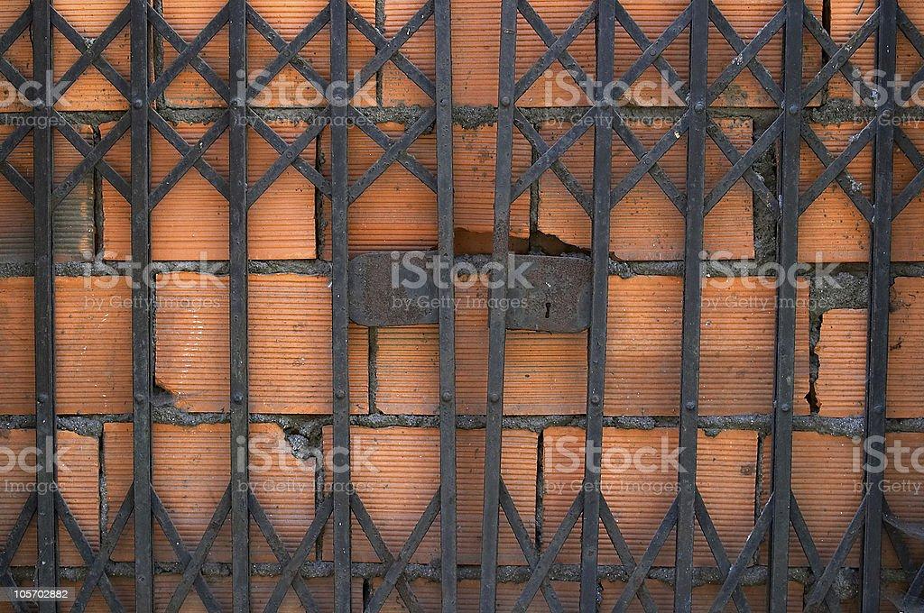 Extra Security - Firewall Metaphor royalty-free stock photo