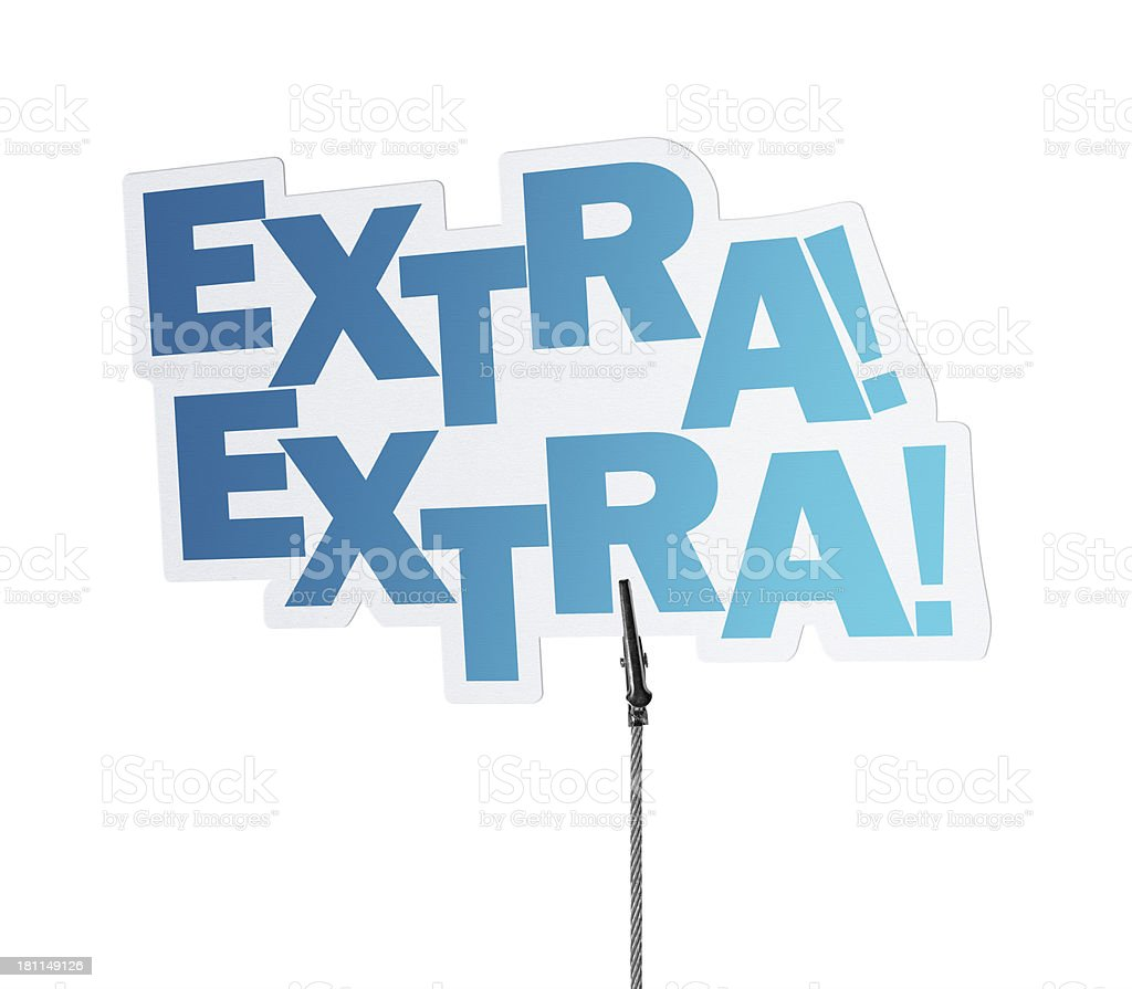Extra, Speech Bubble in Wire Clam royalty-free stock photo