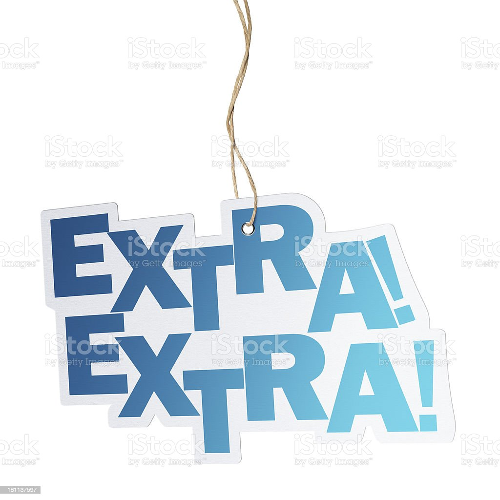 Extra, Speech Bubble royalty-free stock photo