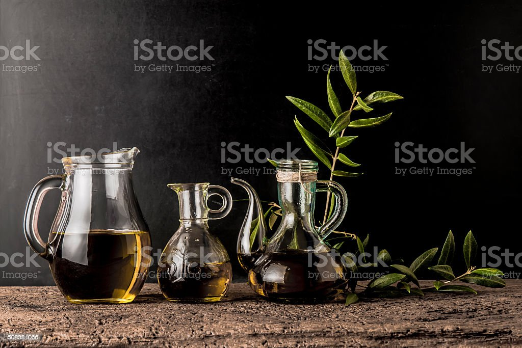 Extra virgin olive oils stock photo