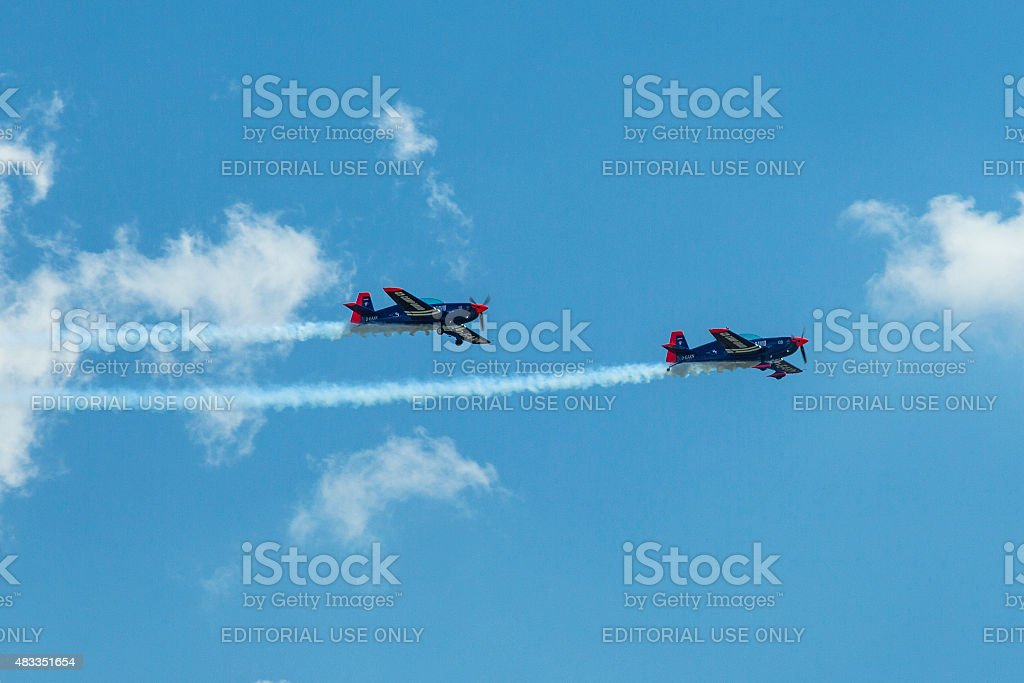 Extra-300, D-EAXK- two-seat aerobatic plane stock photo