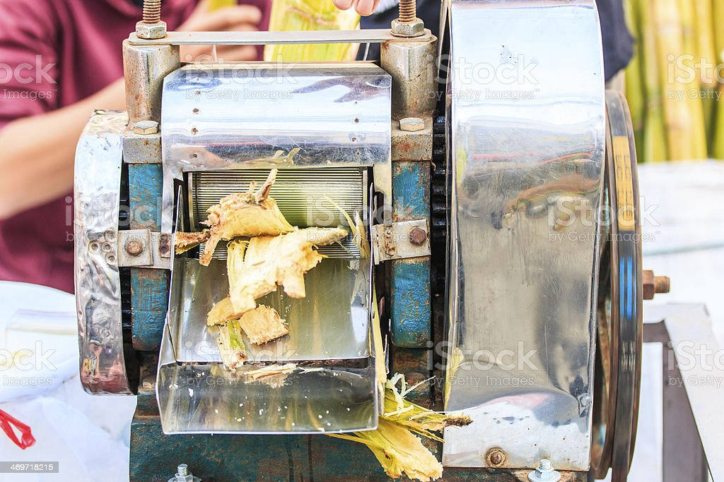 Extracted sugar cane juice stock photo