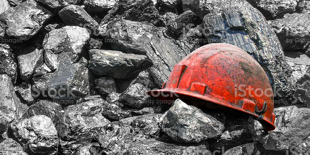 Extraction of coal. stock photo