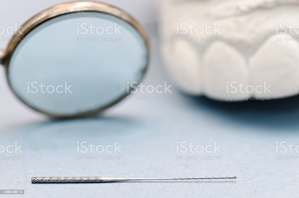 extractor for removing tooth nerves stock photo