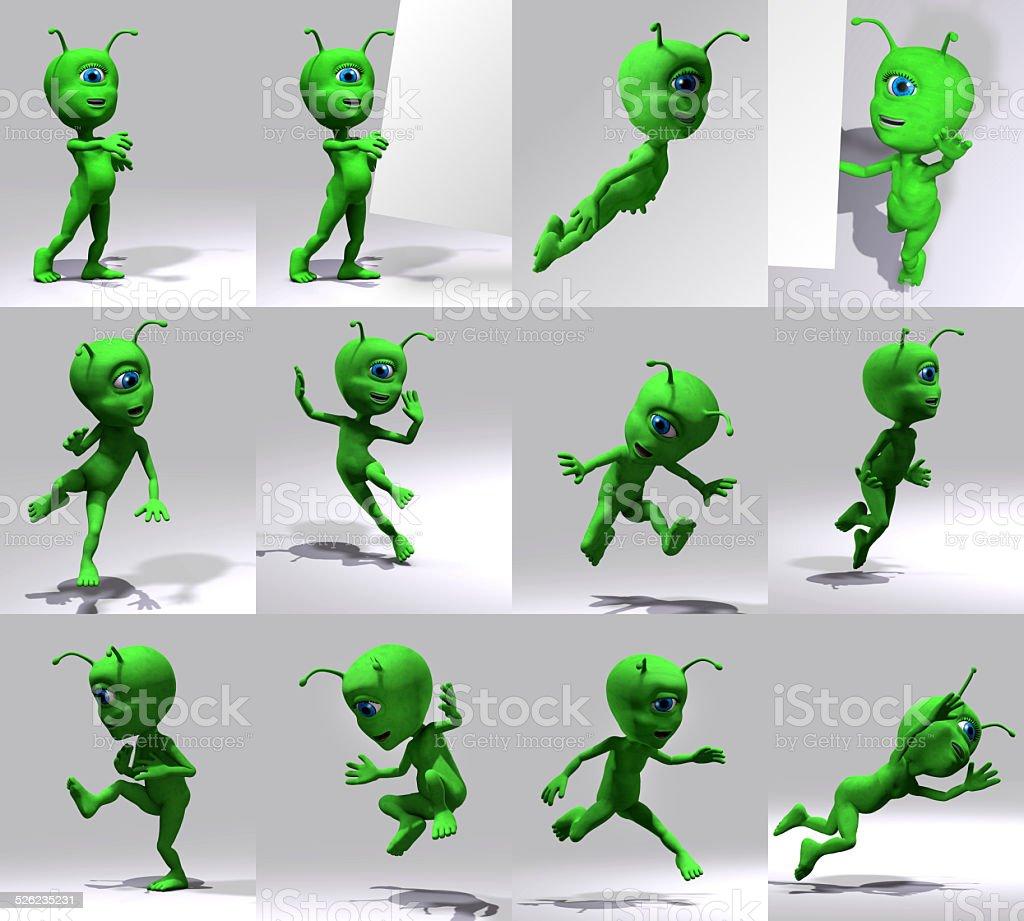 Extraterrestre stock photo