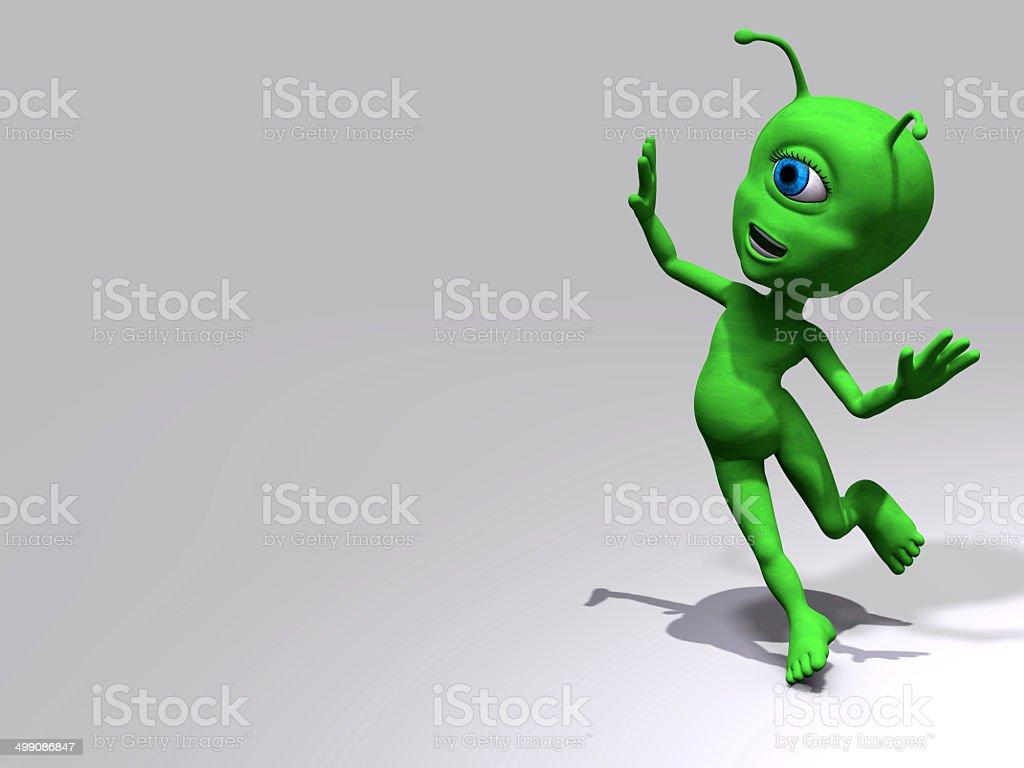 Extraterrestre - spensierato stock photo