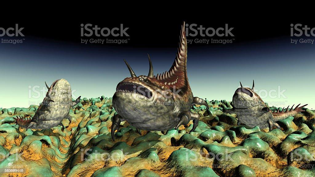 Extraterrestrial life stock photo